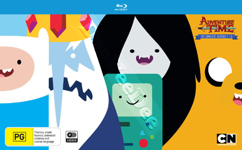 Adventure Time (Complete Seasons 1-5) - 6-Disc Box Set (Blu-Ray)