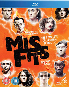 Misfits (Complete Series 1-5) - 12-Disc Box Set (Blu-Ray)