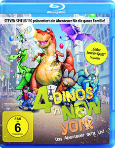 4 Dinos in New York ( We're Back! A Dinosaur's Story (1993) ) (Blu-Ray)